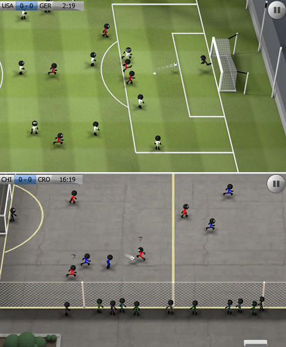 <p>One just for kicks (sorry), Stickman is a simple, kind of silly soccer game with mode options including training, quick game, seasons and street.</p>