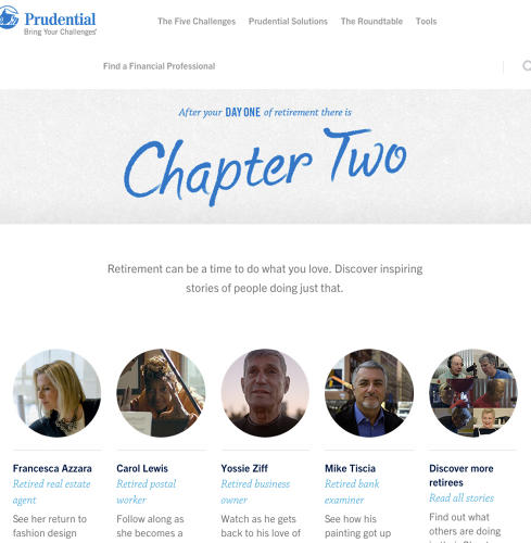 "<p><a href=&quot;http://www.bringyourchallenges.com/ChapterTwo&quot; target=&quot;_blank&quot;>Prudential ""Chapter Two""<br /> </a></p>"