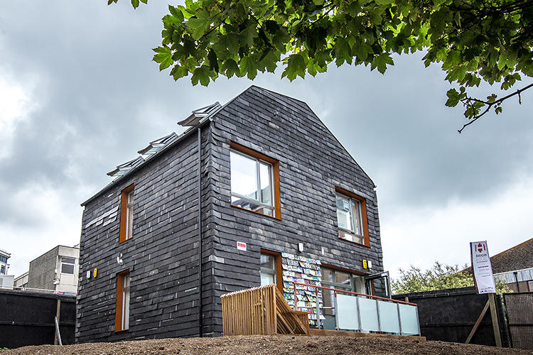 <p>This house was built almost completely from garbage.</p>