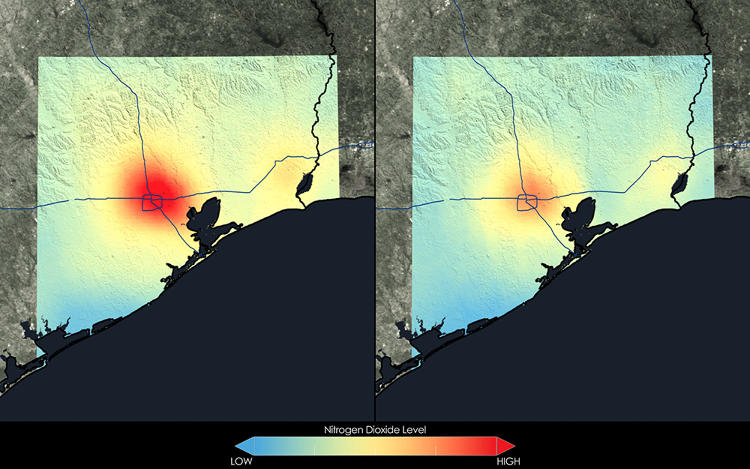 <p>Houston has seen a 24 percent decrease in nitrogen dioxide, thanks to better environmental regulations and technological advancements like smart cars and emission control devices.</p>
