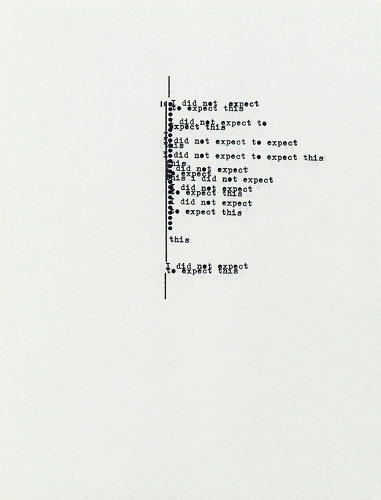 <p>And in 1950, art typing became the backbone of an entire artistic movement: Concrete poetry, in which the typographical arrangement of characters on a page conveyed the poem's content and meaning as much as the words did.</p>