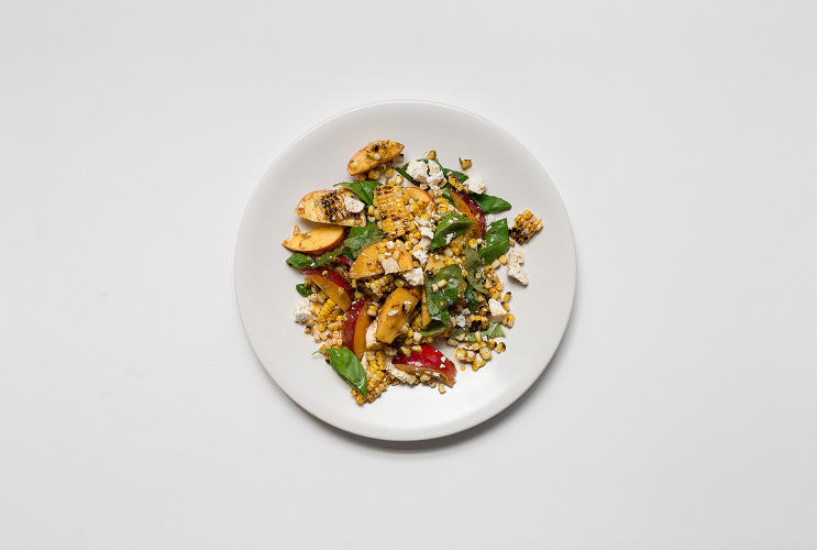 <p>Grilled Corn and Nectarine Salad with Toasted Spice Vinaigrette</p>