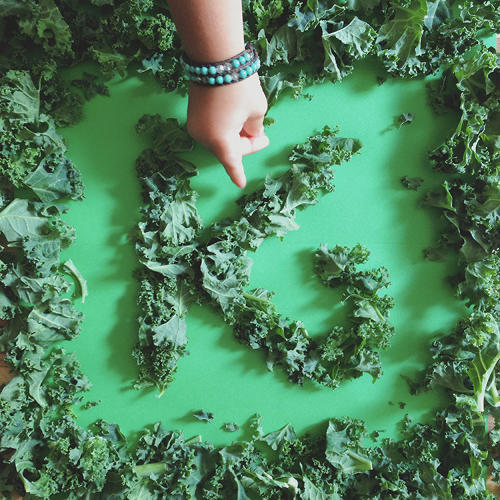 <p>K is for Kale.</p>