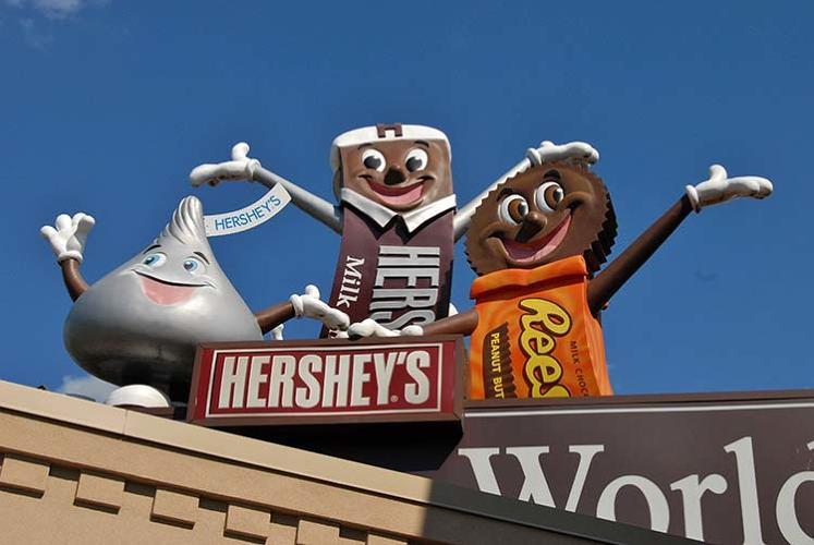 <p>Hershey's was tied for seventh with Walmart.</p>