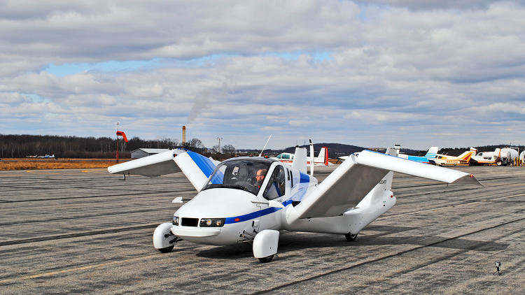 <p>The Transition, the flagship vehicle from flying carmaker Terrafugia, unfolds its wings to become FAA-ready in under a minute.</p>