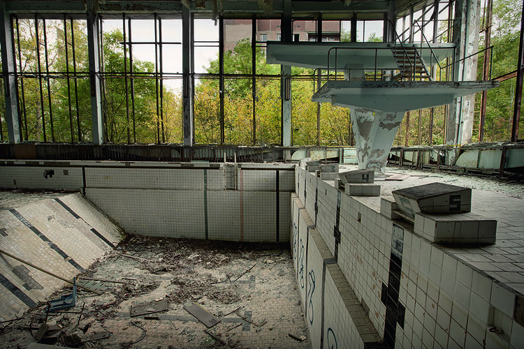 <p>A sports center in Chernobyl</p>
