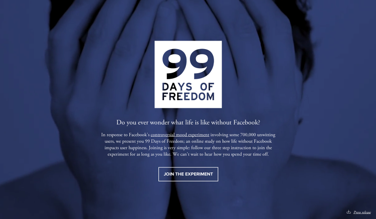 <p>If you were less than happy to learn that Facebook might have secretly experimented with your emotions, now you can try an experiment of your own: Quit the site for 99 days.</p>
