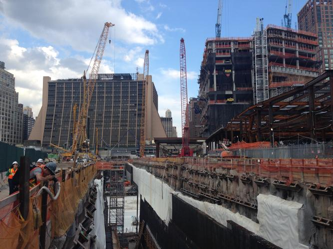 <p>But first they must build a &quot;tunnel box&quot;--reserving a place for a potential future Amtrak line that would go under the site and across the Hudson River.</p>