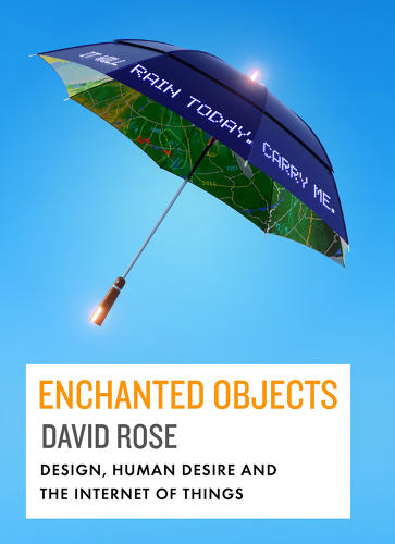 <p>Rose previously devloped pill bottles that tell you when you've skipped your medication (see previous slide), umbrellas that say whether it will rain today and orbs that glows when the something exciting is happening with your stock portfolio. This work led to his book, <em>Enchanted Objects</em>.</p>