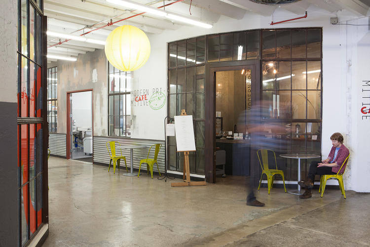 <p>Kimball is also banking that a 40,000-square-foot marketplace of artisanal food makers like Blue Marble Ice Cream and Colson Patisserie that rent commercial kitchens upstairs will attract new people to the area.</p>