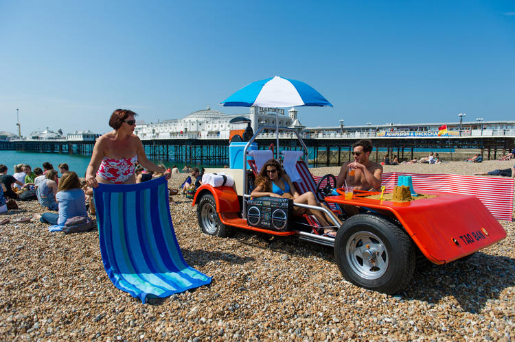 <p>As part of a promotional stunt for Holiday Autos, a car rental search website in the U.K., designer Solomon Rogers created a deck chair that belongs at Burning Man more than the average beach.</p>