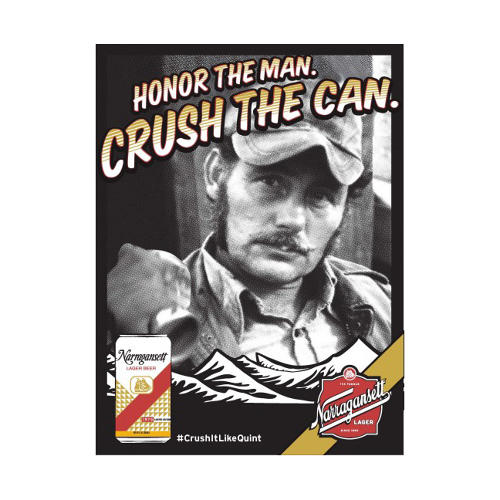 <p>Crush it like <strong>Captain Quint</strong>.</p>