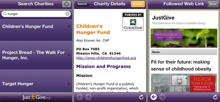 <p>The most traditional of these, JustGive compiles a database of charities and lets you go directly to what you care about to donate. No check-ins or social shares required.</p>