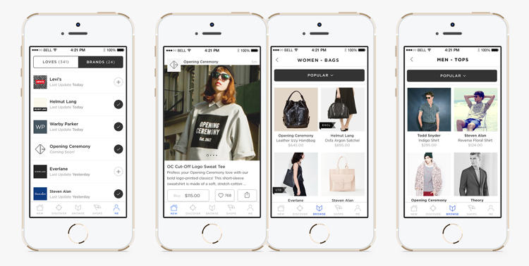 <p>Brands select what to feature for sale in the app each day--perhaps a sale item or a limited edition item--and they post photos that artistically feature it.</p>