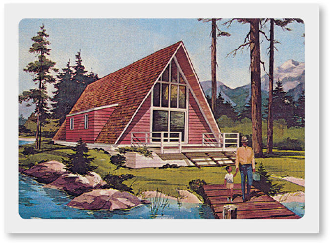 <p>A-frame houses had their big moment in postwar America.</p>