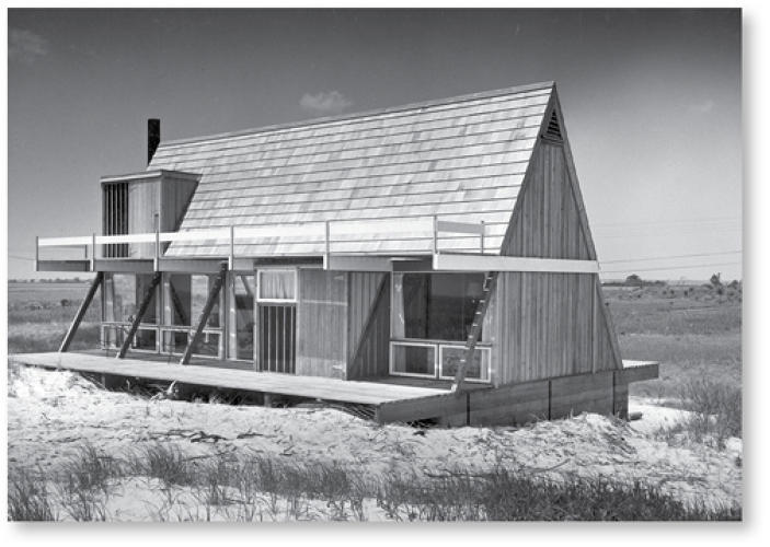 <p>The modernist dwellings were popular at many a mountain and lakeside vacation getaway, icons of a leisurely lifestyle.</p>