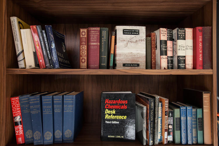 <p>One of the biggest projects living in the Interval is the <a href=&quot;http://blog.longnow.org/02014/02/06/manual-for-civilization-begins/&quot; target=&quot;_blank&quot;>Manual for Civilization,</a> a collection of 3,500 books deemed by the Long Now community to be most essential for sustaining or rebuilding civilization (hence, those floor to ceiling bookshelves).</p>