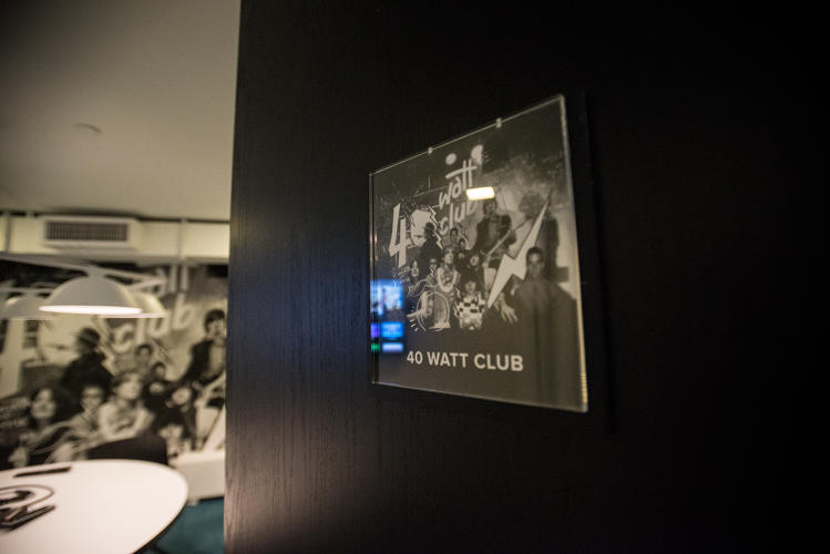 <p>At Spotify's NYC campus, every conference room is named after a famous music venue.</p>