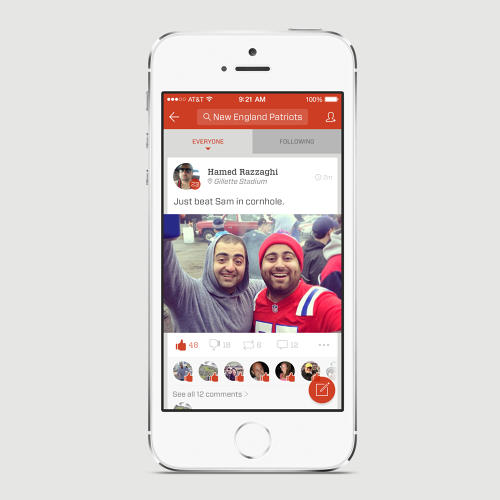 <p>On Fancred, you can inform the network which teams in particular you follow, tailoring the content you receive; all activity on Fancred is grouped by teams.</p>