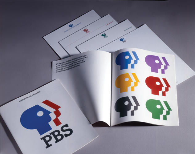 <p>Public Broadcasting Service (PBS) <br /> Booklet introducing new logo, 1984.</p>