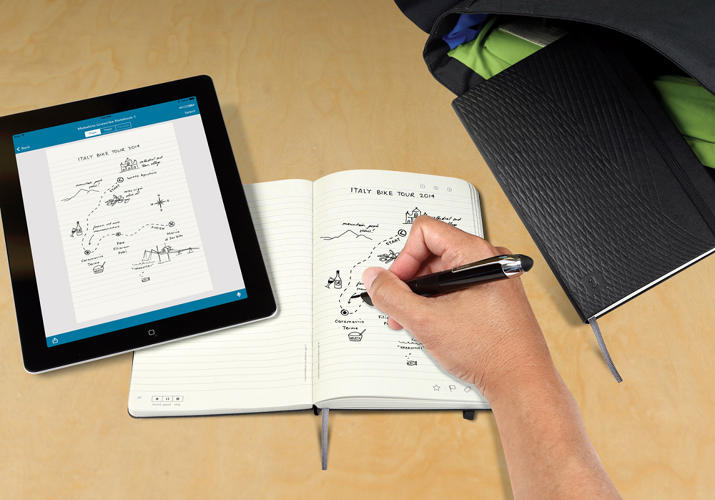 <p>This Moleskine automatically backs up to the iPad.</p>