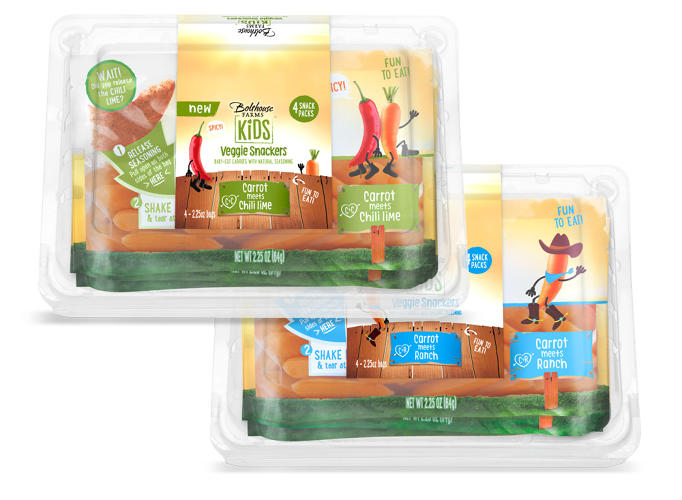 <p>It will sell new products like &quot;veggie snackers,&quot; a pack of carrots flavored like chips; pureed fruit in tubes; and unsweetened fruit smoothies, all wrapped in colorful, junk food-like packaging.</p>