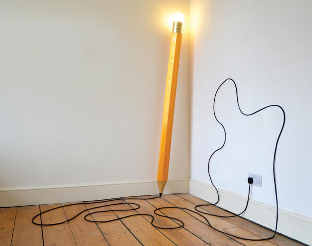 Draw On The Floor With This Pencil Lamp S Cord Co Design