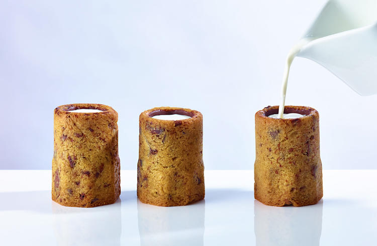 <p>Chocolate Chip Cookie Shots--filled with organic milk, which is cold-infused with vanilla beans for 24 hours.</p>