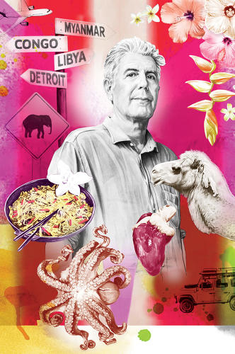 <p><strong>Anthony Bourdain</strong>, 58, is a foodie explorer who has spent years trekking around the planet while fearlessly tucking into all manner of exotic fare, from months-old rotten shark meat in Iceland to a still-beating cobra heart in Vietnam.</p>