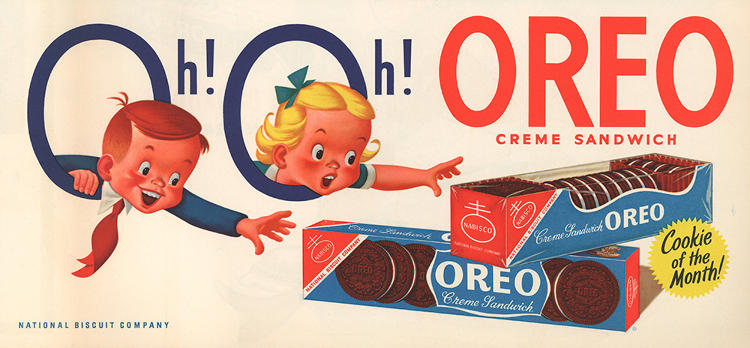 "<p>Oreo introduces the long-running, versatile ""Oh!, Oh! Oreo!"" campaign that's used to market the cookies both to moms and kids.</p>"