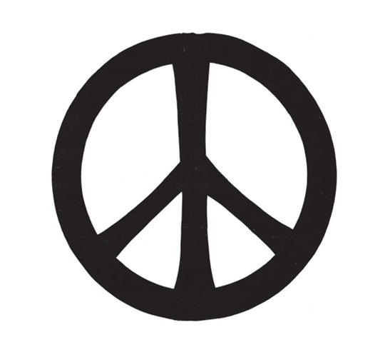 <p>The original shape of the CND symbol with widening outstretched 'arms', following Gerald Holtom's design.</p>