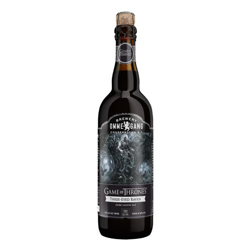 <p>Three-Eyed Raven Dark Saison Ale</p>