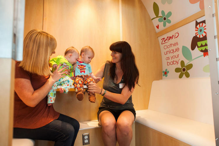 <p>Their company, Mamava, is now making free-standing mobile pods that offer mothers a private, clean, and calming space to pump or nurse when at work, running errands, or traveling.</p>
