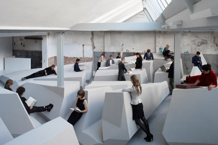 <p>Forget standing desks. In the office of the future, you might lean instead.</p>
