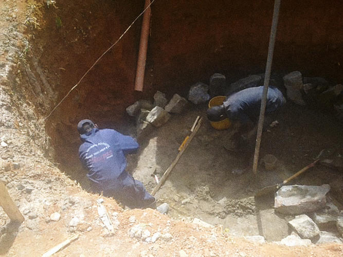 <p>At Maseno School, a large boarding school in western Kenya, the sewer system often backed up and contaminated a nearby stream. And, of course, it didn't smell very good either.</p>