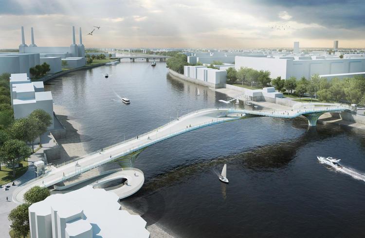87 brilliant designs for a new pedestrian cycling bridge for Design bridge london