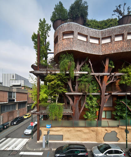 Treehouse Apartments: This Tree-Covered Apartment Building Cleans A Polluted