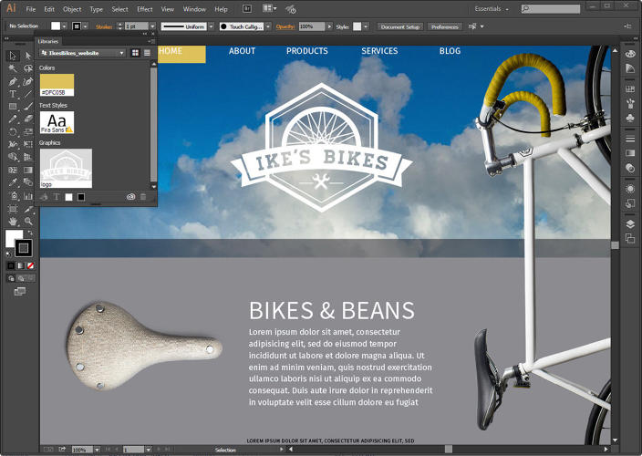 <p>This is Adobe Comp. It's an iPad app that can create rich graphical layouts.</p>