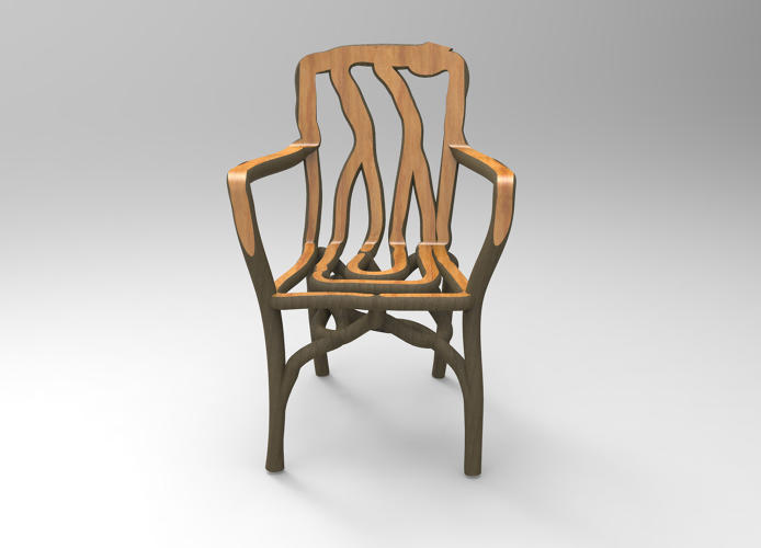 <p>Gavin Munro, a furniture designer based in Derbyshire, England, has found a simpler and more eco-friendly way to create wooden furniture: he uses specially designed plastic frames to mold young willow, oak, ash and sycamore trees into the shape of chairs, tables, frames, or lamps as they're growing.</p>