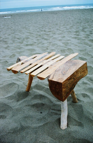 <p>Driftwood furniture Munro made that inspired Full Grown.</p>