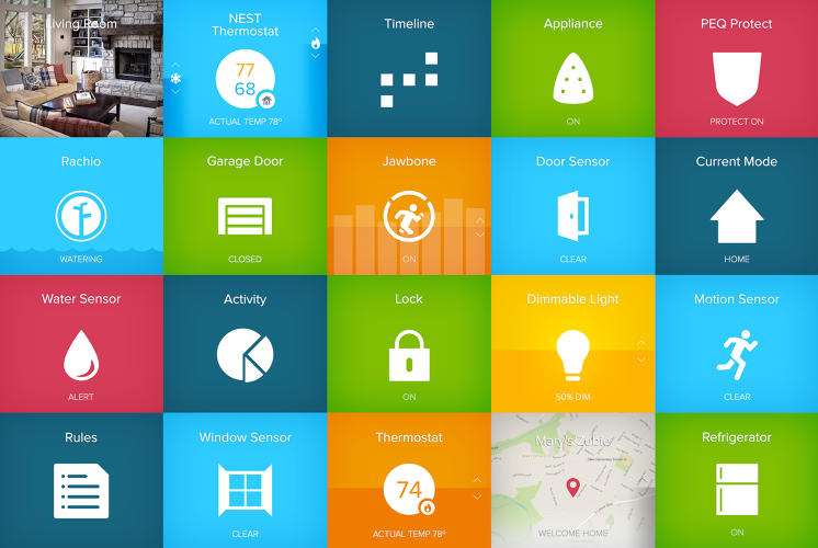<p>PEQ is a smart home system that's organized by a series of tiles.</p>