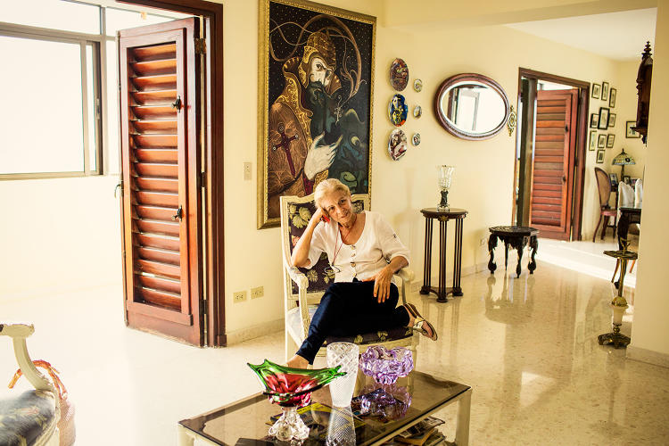 <p>Marta, a new Airbnb host in the Vedado neighborhood of Havana.</p>