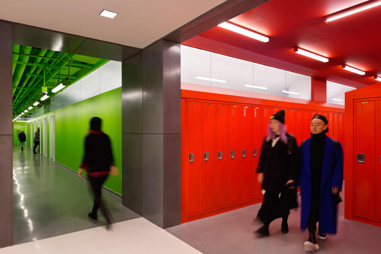 <p>Built in the middle of the New School campus at 14th Street and 5th Avenue in Manhattan, this new university building has classrooms and design studios on the first seven floors and dorm space for 600 students at the top.</p>