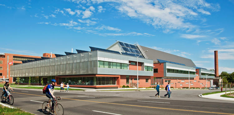 <p>The Canmet Materials Technology Laboratory in Ontario is a football field-sized building is filled with equipment that uses a lot of energy, making it that much more impressive that the new design cuts energy use by 70%.</p>
