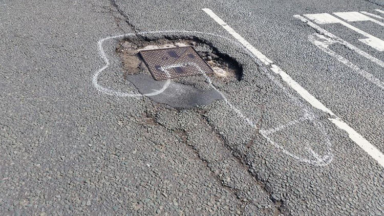 <p>In Manchester, England, an activist has taken to the streets to get potholes fixed.</p>