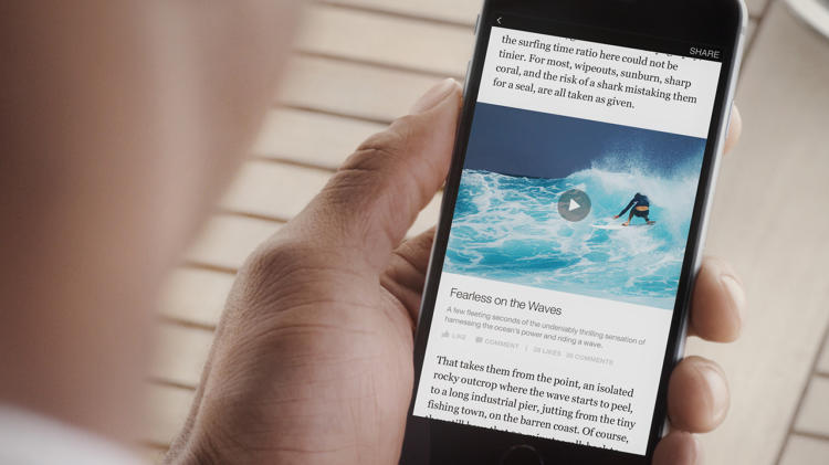 <p>Instant Articles will launch first on the Facebook iPhone app. You're sure to see them soon.</p>