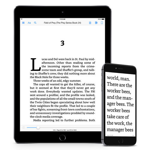 <p>Amazon updated the Kindle app for iOS with Bookerly and a new layout engine today this morning. Another update rolling out the new font and typesetting technology to users of Amazon's line of e-ink readers, Android, and other devices will be available later this summer.</p>