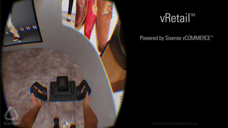 <p>VR company Sixense partnered with advertising firm SapientNitro to create the virtual shopping experience vRetail.</p>