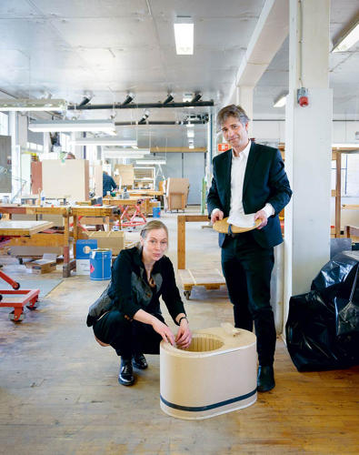 <p>Manz worked with historic furniture maker Rud Rasmussen on the design.</p>