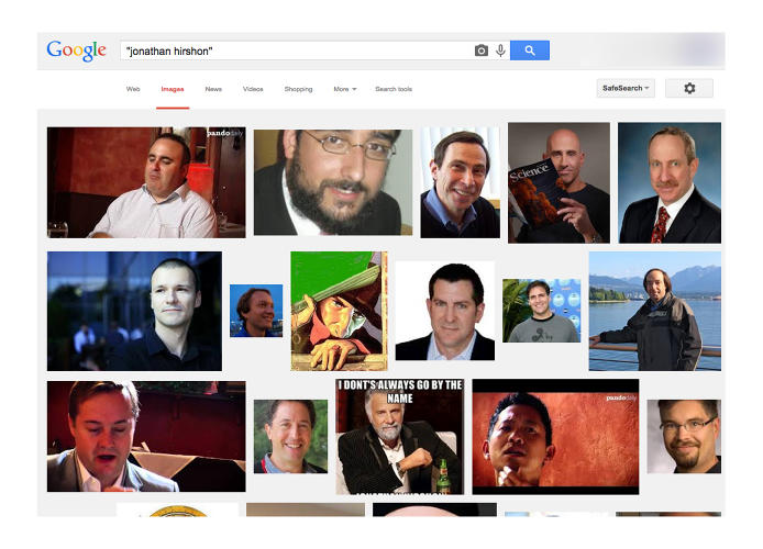 <p>An image search for Hirshon's name brings up a whole lot of randomness.</p>